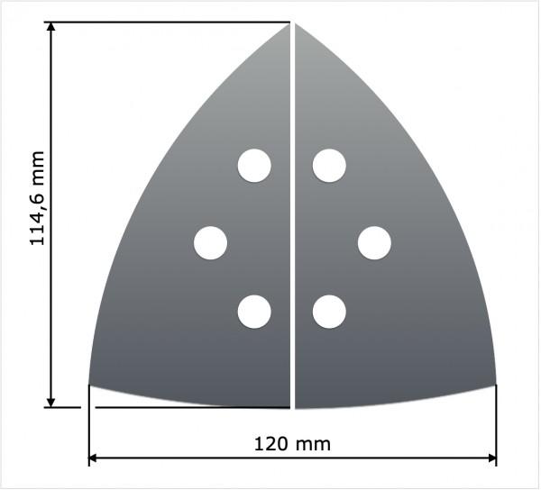 Noppenfolie für Dreieckschleifer groß (120 mm)